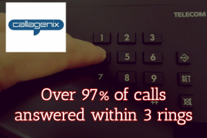97% Calls Answered in 3 Rings